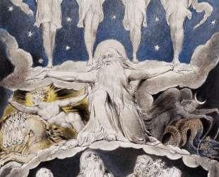 Когда запели звезды. Иллюстрация к Книге Иова — Уильям Блейк