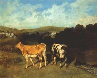Белый бык и светлая корова — Гюстав Курбе
