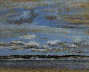 White Clouds over the Estuary — Эжен Буден