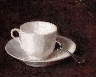 White Cup And Saucer — Анри Фантен-Латур