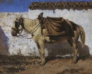 Белая лошадка. Нормандия — Василий Поленов