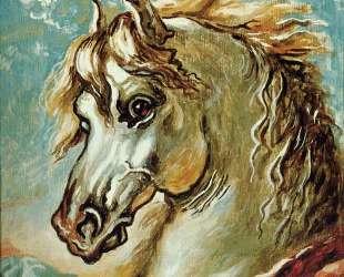 Голова белой лошади с развевающейся гривой — Джорджо де Кирико