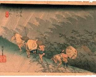 White Rain, Shono — Хиросиге