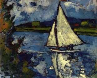 White Sailboat at Chatou — Морис де Вламинк