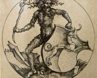 Wild man with shield — Мартин Шонгауэр
