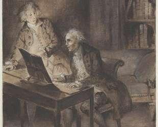 Виллибальд фон Глюк за клавесином сочиняет партитуру Армиды — Эжен Делакруа