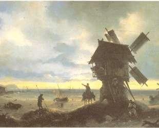 Мельница на берегу моря — Иван Айвазовский