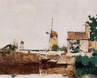 Windmills, Dordrecht — Джон Генри Твахтман (Tуоктмен)