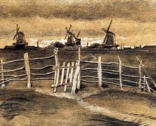 Windmils at Dordrecht — Винсент Ван Гог