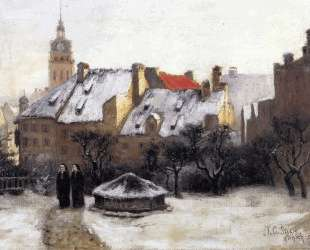 Winter Afternoon Old Munich — Теодор Клемент Стил