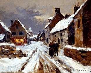 Winter evening — Эдуард Кортес