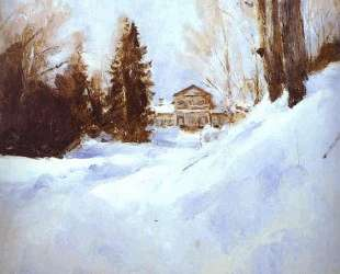 Зима в Абрамцево — Валентин Серов
