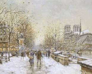 Winter in Paris, Notre Dame — Антуан Бланшар