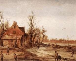 Winter Landscape — Эсайас ван де Вельде