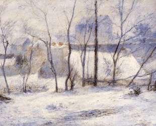 Зимний пейзаж — Поль Гоген
