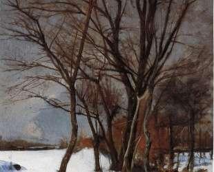Winter Landscape with Stream — Джулиан Олден Вейр