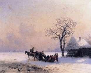 Зимняя сцена в Малороссии — Иван Айвазовский