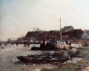 Winterfun On De Loswal, Hattem — Корнелис Вреденбург
