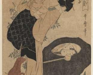 Woman and Child — Китагава Утамаро