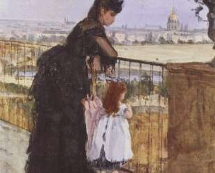 Woman and child on the balcony — Берта Моризо