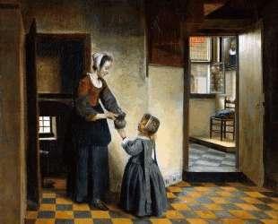 Woman and child — Питер де Хох
