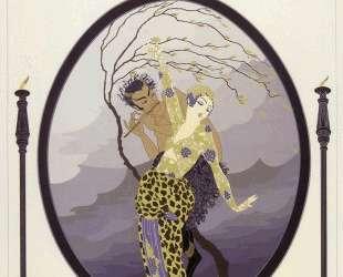 Woman and Satyr — Эрте