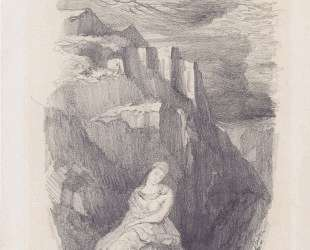 Woman and the mountain landscape — Одилон Редон