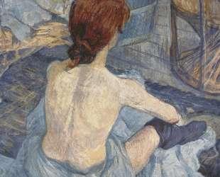 Woman at Her Toil — Анри де Тулуз-Лотрек