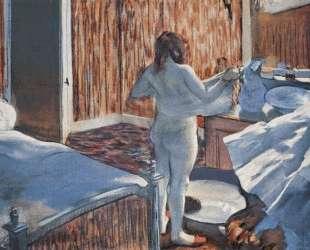 Женщина за туалетом — Эдгар Дега