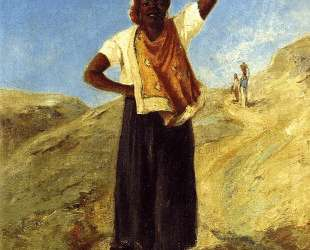 Woman Carrying a Pitcher on Her Head — Камиль Писсарро