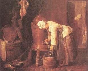 Woman Drawing Water from an Urn — Жан Батист Симеон Шарден
