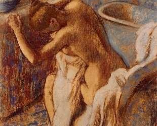 Женщина вытирается — Эдгар Дега