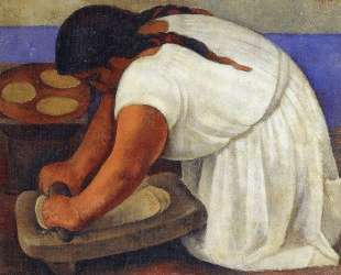 Woman Grinding Maize — Диего Ривера