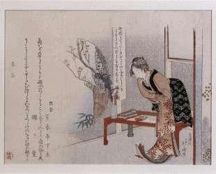 Woman in an Interior — Кацусика Хокусай