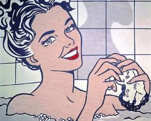 Женщина в ванной — Рой Лихтенштейн