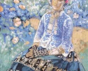Женщина в голубом платье — Виктор Борисов-Мусатов