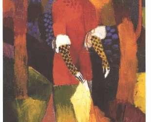 Woman in park — Август Маке