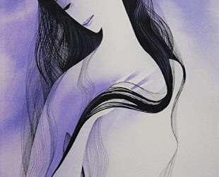Woman in purple — Эйвинд Эрл