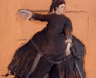 Женщина на софе — Эдгар Дега