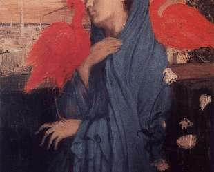 Женщина на террасе (Молодая женщина и ибисы) — Эдгар Дега