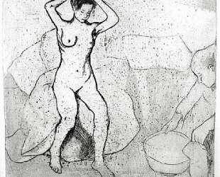 Woman Preparing for a Bath — Сюзанна Валадон