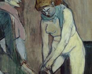 Woman Pulling up Her Stockings — Анри де Тулуз-Лотрек