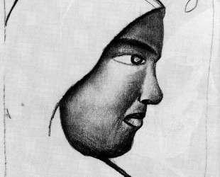 Woman s Head in Profile — Казимир Малевич