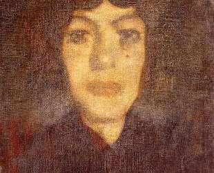 Голова женщины с мушкой — Амедео Модильяни