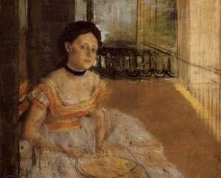 Женщина сидит на балконе — Эдгар Дега