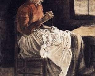 Woman Sewing — Винсент Ван Гог