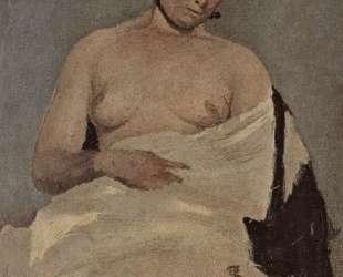 Женщина, сидящая с обнаженной грудью — Камиль Коро