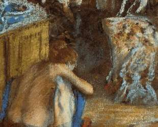 Женщина на корточках — Эдгар Дега