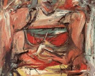 Woman V, 1952-53 (oil & charcoal on canvas) — Виллем де Кунинг