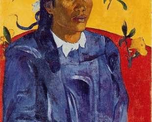 Женщина с цветком — Поль Гоген